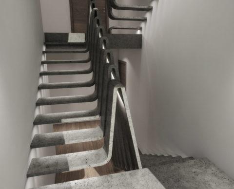 Элементы лестницы из архитектурного бетона