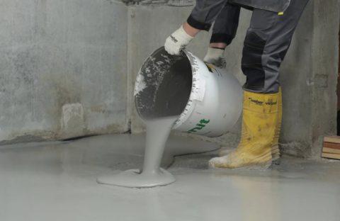 Использование литого бетона в качестве самовыравнивающейся смеси