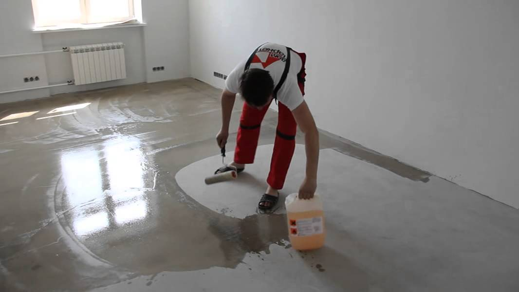 время высыхания жидкого стекла на бетоне
