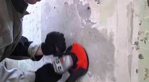 Очистка покрытия болгаркой