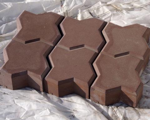 Один извариантов плитки для мощения тротуаров