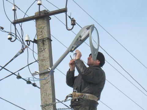 Освещение на линии электропередач