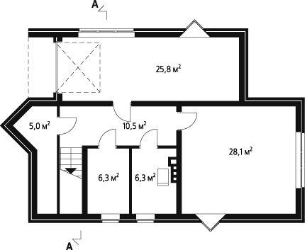 План подвального помещения