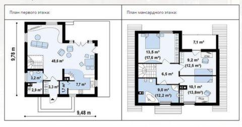 Планы размещения комнат