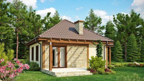 Проект дома изгазобетона 10×12м