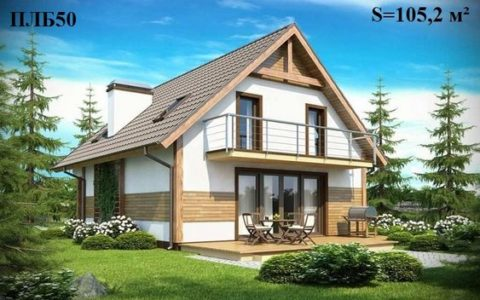 Проекты домов из полистиролбетона – одноэтажное здание