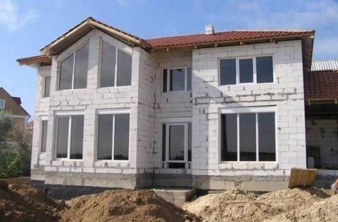 Проекты домов изгазобетона 10×10м