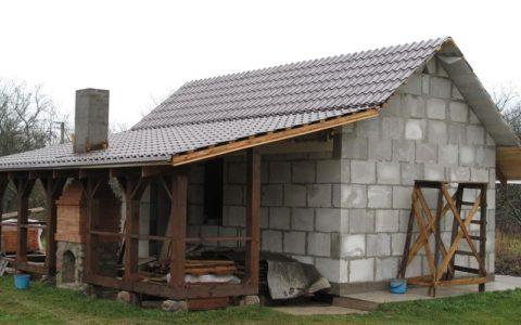 Строительство бани из пенобетонных блоков