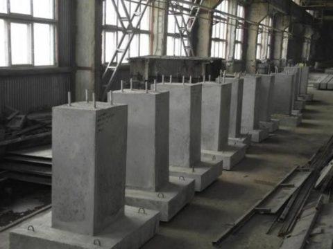 Типовые фундаментные блоки под опоры освещения