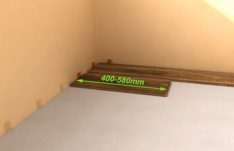 Укладка ламината на бетон – смещение шва