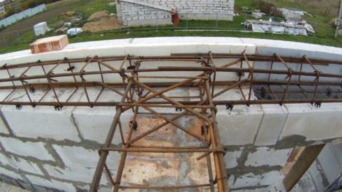 Устройство армированного бетонного пояса