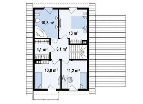 Второй этаж— планировка