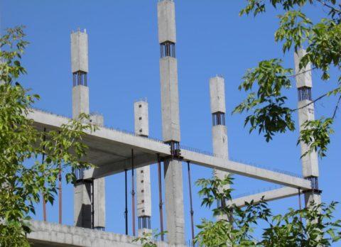Железобетонный каркас многоэтажного здания