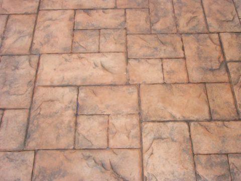 Эффект состаривания на поверхности печатного бетона