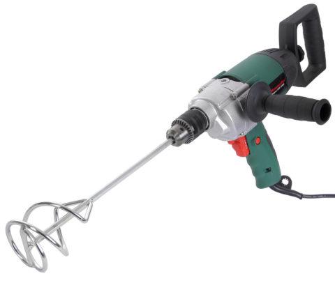 Электрическая дрель и насадка миксер