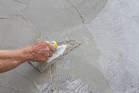 Герметизационная затирка для трещин в бетоне
