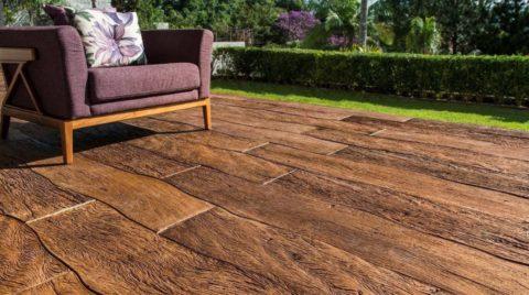 Имитация текстуры натуральной древесины