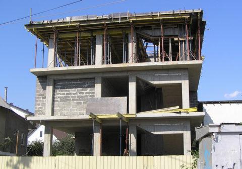 Каркас дома из монолитных колонн