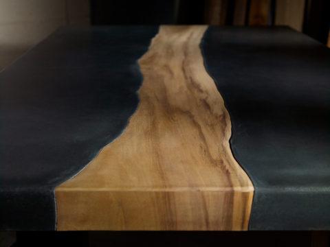 Композитная столешница – инкрустированная деревянная вставка