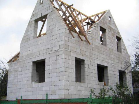 Крыша мансардного типа