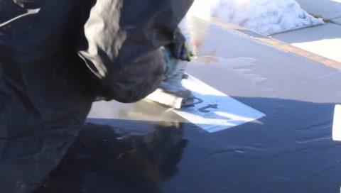 Мокрое шлифование бетонной поверхности