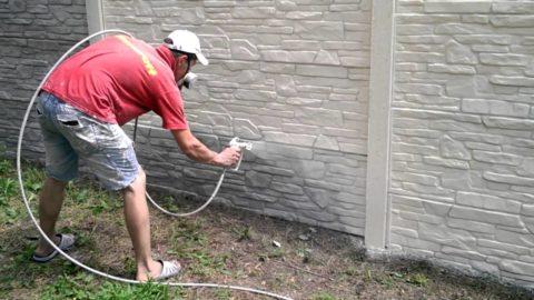 Окраска бетонных заборов