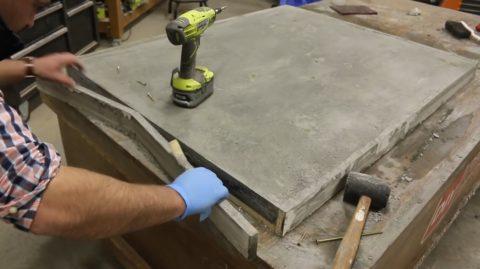 Распалубка бетона