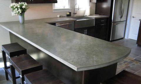 Реставрированная бетоном поверхность
