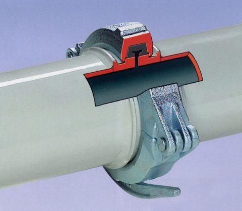 Соединение труб в бетоноводе