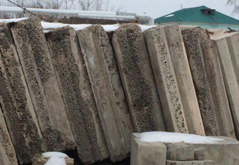 Стеновые плиты, бывшие в употреблении