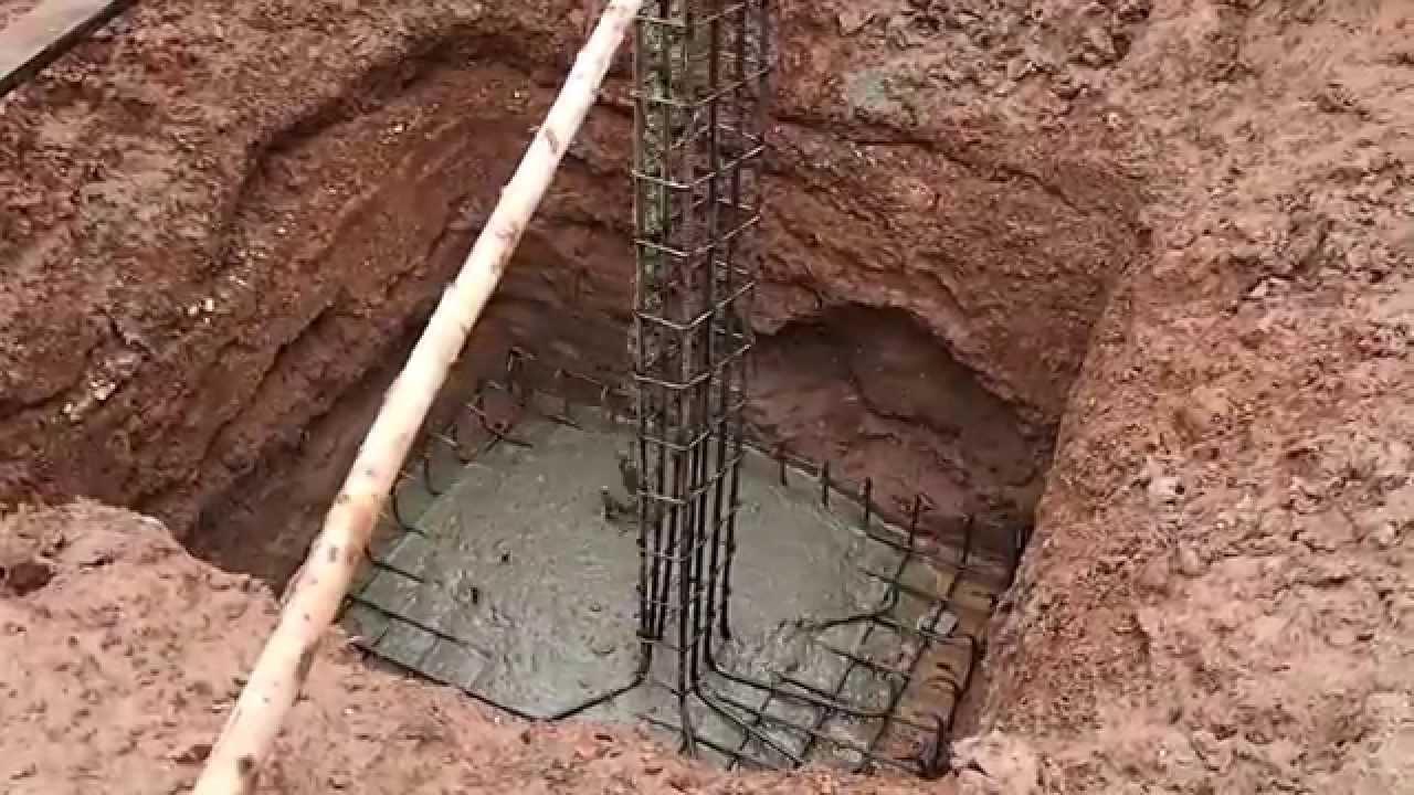 Заливка железобетонных колонн опоры лэп архангельск