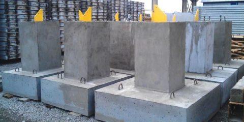 Железобетонные основания для установки опор