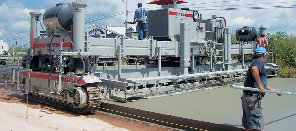 Установка для укладки бетона