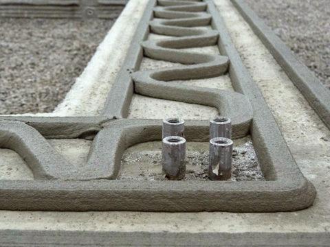 Композитный состав — геополимерный бетон, архитектурная конструкция