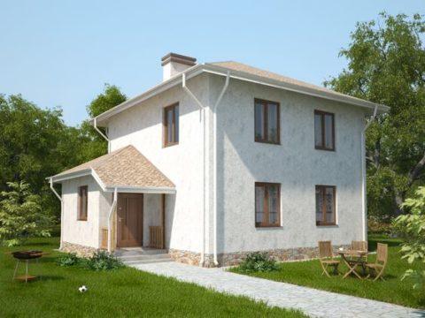 Красивый и теплый дом из железобетонных панелей