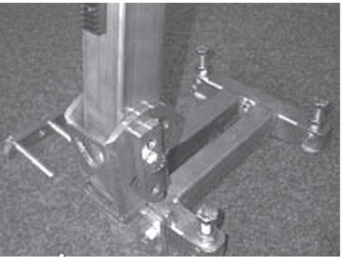 Крепление дюбельной подножки на дюбеля