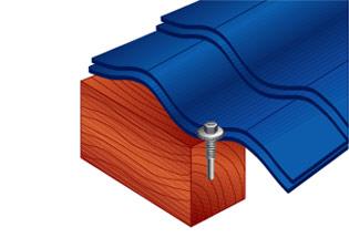 Монтаж к деревянному основанию