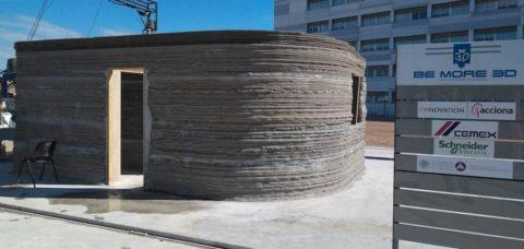 Первое в мире бетонное здание, распечатанное на 3D-принтере