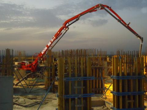 Проведение работ по бетонированию