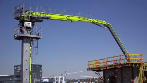 Смонтированная бетонораспределительная установка