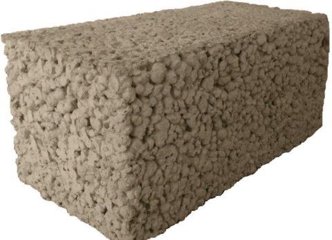 Блок бетонный полнотелый 200х200х400 мм
