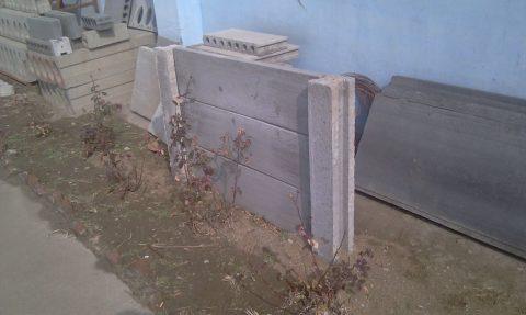 Элемент ограждения из стеновых панелей