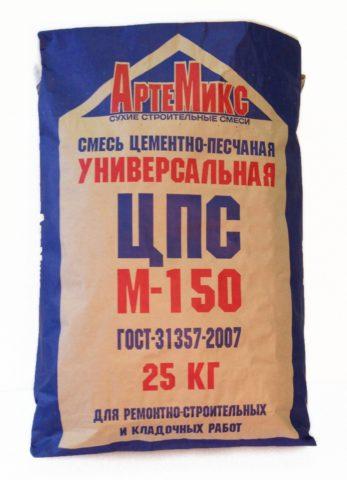 Готовая цементно-песчаная смесь
