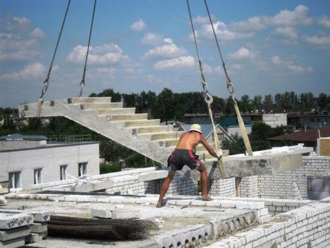 Лестницы железобетонные – серия ЛМП (лестница маршевая с площадкой)