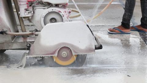 Мокрая резка бетона