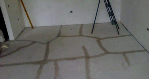 На фото свежеотремонтированное бетонное основание