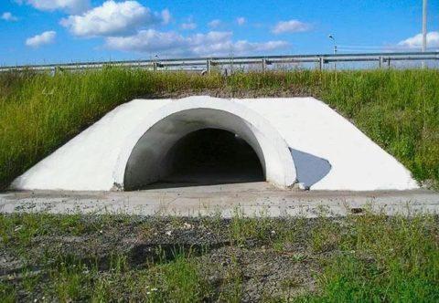 На фото труба арочной формы
