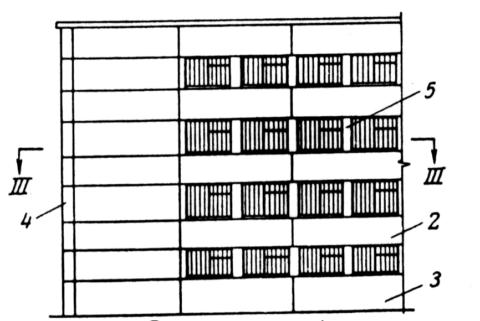 На рисунке 2 – панель полосовая горизонтальная, 3 – панель цокольная, 4 – панель угловая, 5 – вертикальная межоконная вставка