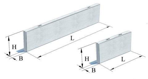 Панели стеновые керамзитобетонные – размеры L и H в дм, B в см