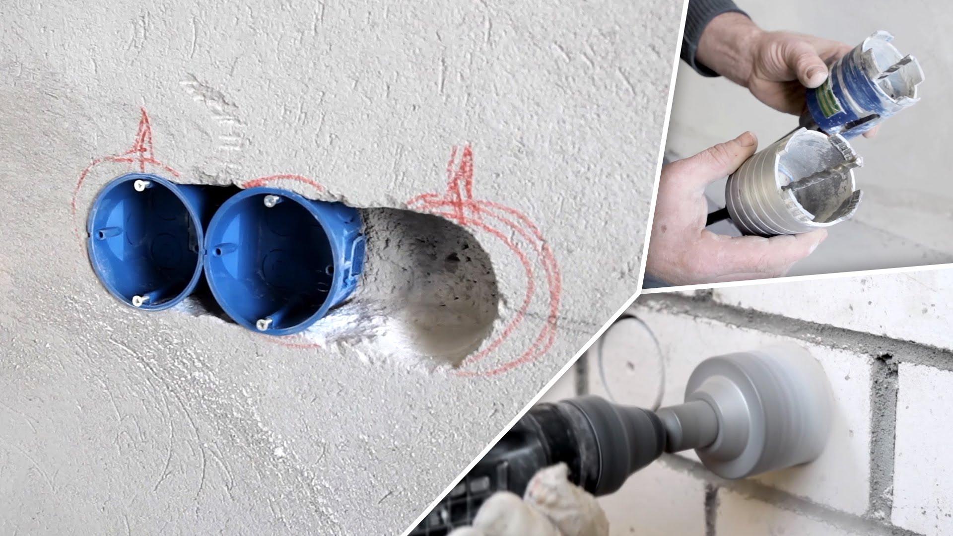 Какую коронку для подрозетников по бетону купить бетон северский район